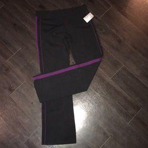 Aerie Workout Pants - Black/Purple